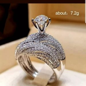 New fashion silver Plated white sapphire ring